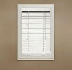 white 2 5 premium faux wood blind
