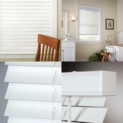 White Cordless 2 in. Faux Wood Blind - 70.5 in. W x 48 in. L