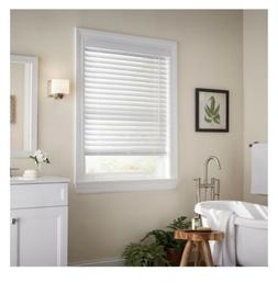 White Cordless Room Darkening 2 in. Faux Wood Blind - 22.5 i