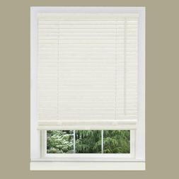 "White PVC Non- Leaded 1 Inch Window Mini Blind Size 27"" Wide"