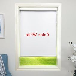 White Roller Shade 4ply Vinyl Blackout Blind Home Window Cus