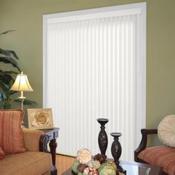 White Vertical Sliding Patio Door Blind Shade Large Window R