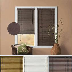 "Window Blind 2"" Slats Mini Blinds Vinyl Embossed Woodgrain M"