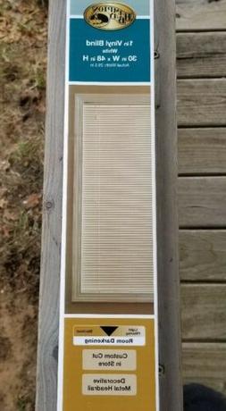 """Window Blinds 30""""x48"""" White Vinyl.  1 Inch White Vinyl Blind"""