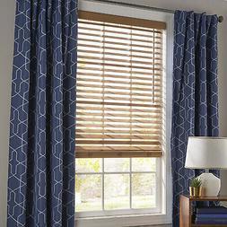 Window Blinds 35 in. x 64 in. Oak 2 Inch Faux Wood Cordless