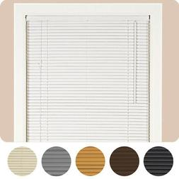 "Window Blinds Mini Blind 1"" Slat Vinyl Venetian Blinds - Bla"
