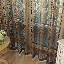 Window Curtains Geometric Modern Sheer Living Room Bedroom K