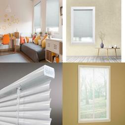 """Window Mini Blind Aluminium Cordless Room Darkening White 1"""""""