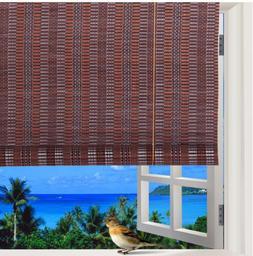Window Shade Roll Up Blind Natural Roman indoor Outdoor Curt