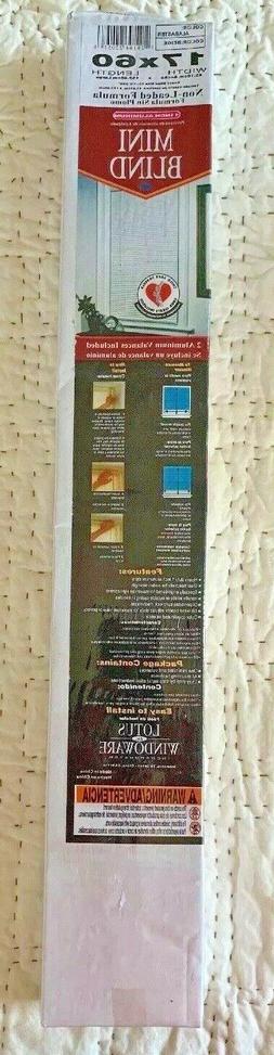 "Lotus & Windoware 1-Inch Wide Aluminum Blinds 17"" X 60"""