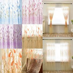 Floral Printed Yarn Vertical Blind Window Tulle Home Living
