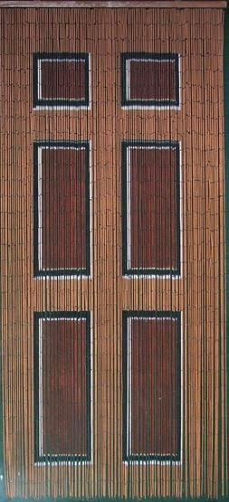 Wooden Door Beaded Curtain 125 Strands
